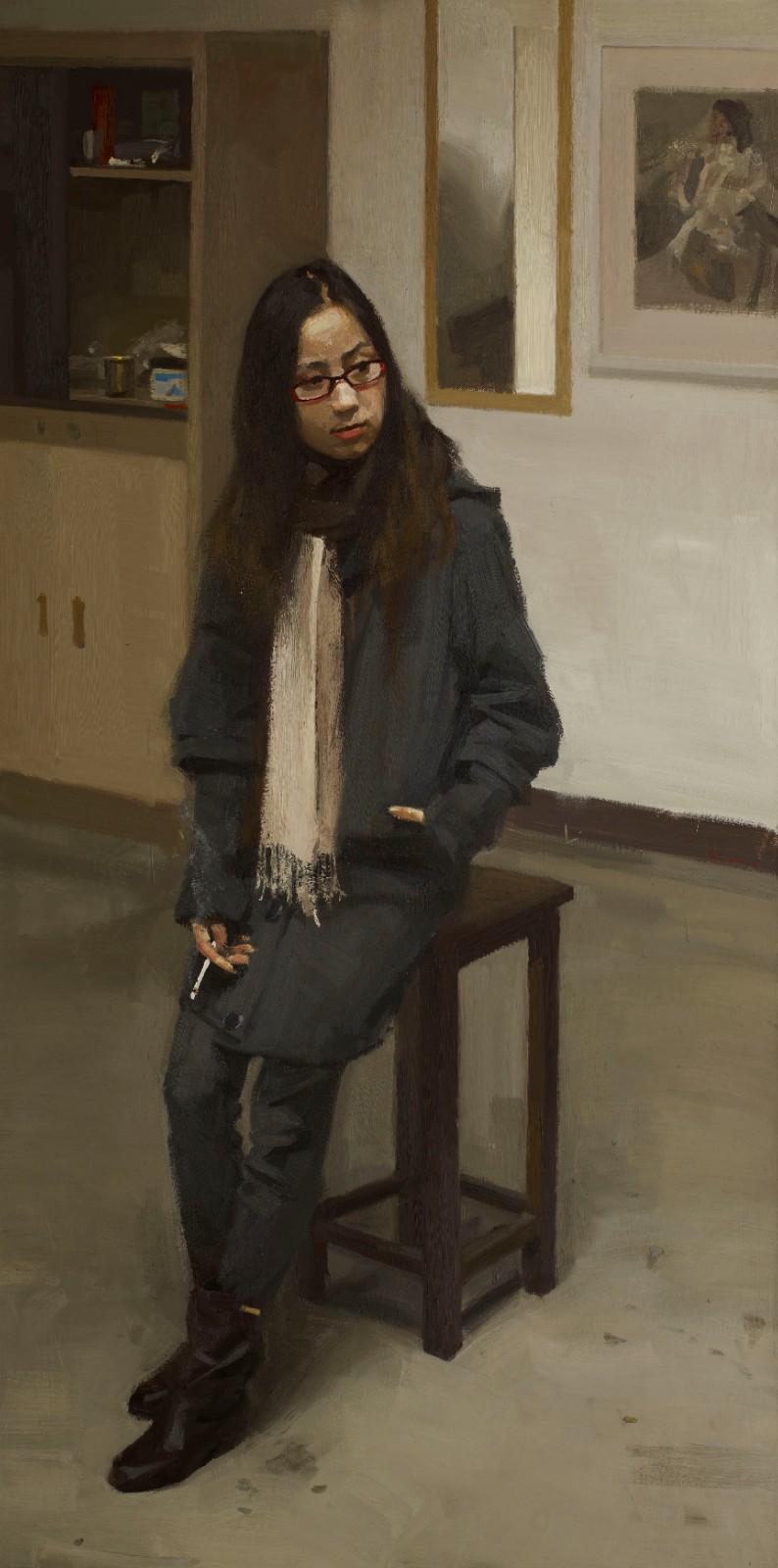 图21 抽烟的女孩儿200x100cm 2011.jpg