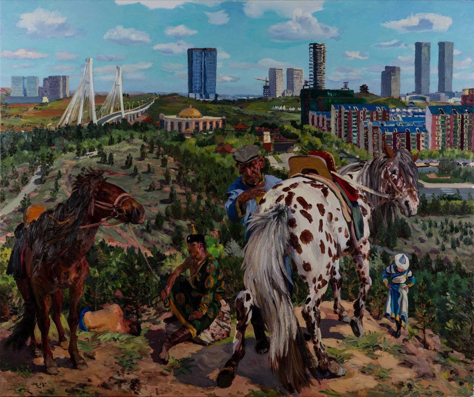 刘小东《空城计2》布面油画,250×300cm,2015 ©刘小东工作室.jpg