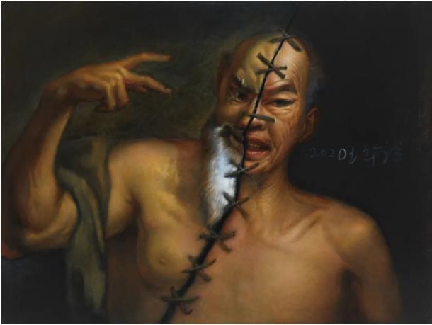 10 锔瓷一 120×160cm 布面油画 2020年.png