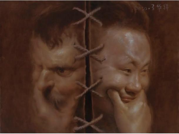 23 锔瓷八 60×80cm 布面油画 2020年.png