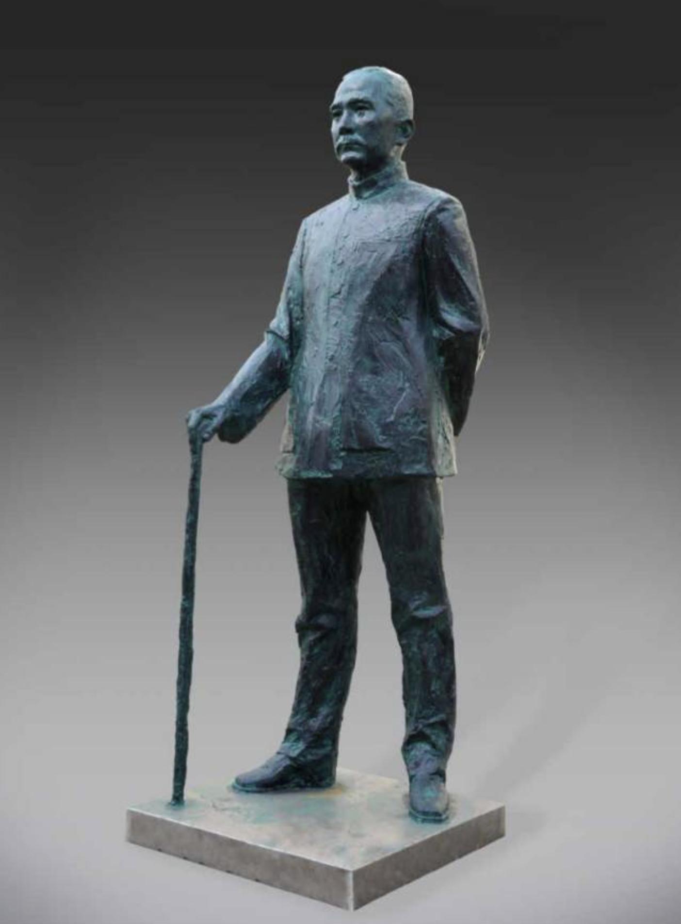 《孫中山像》 鑄銅 高230cm 2002年.png