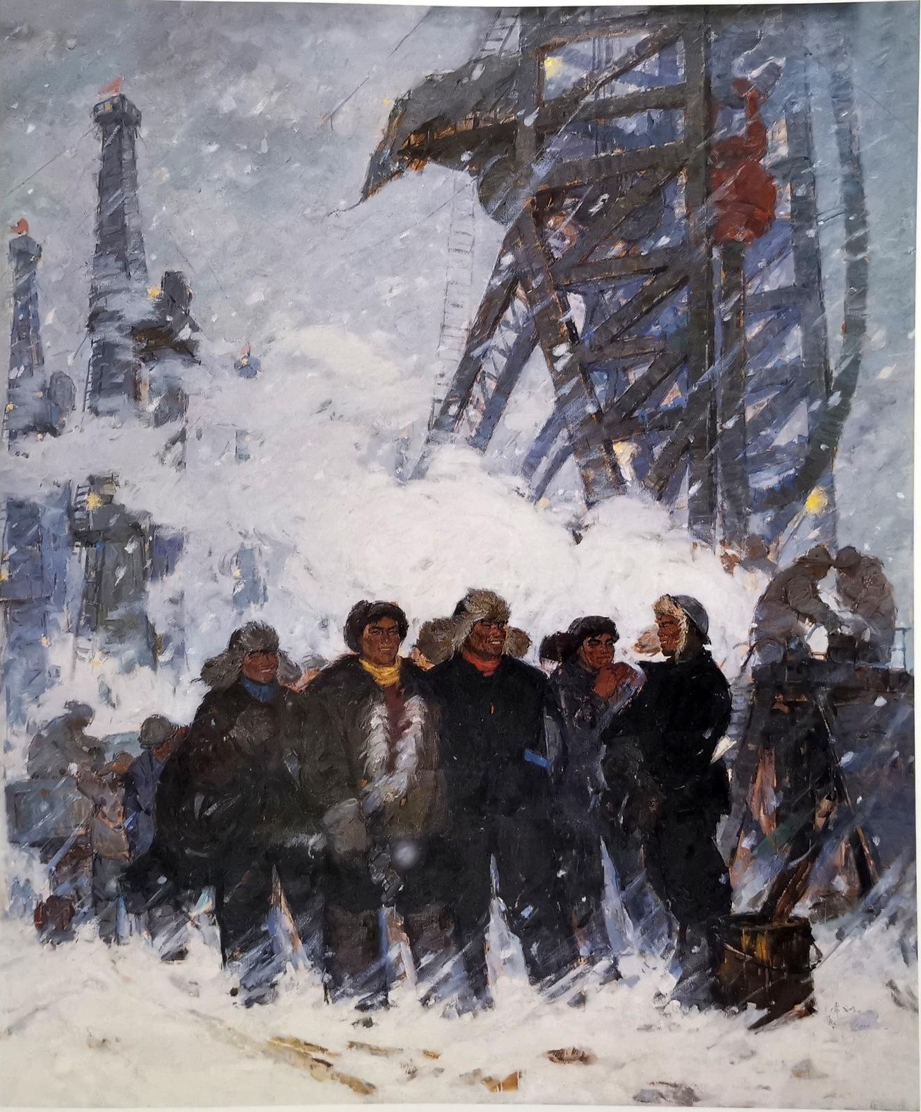 大庆人 230cmX190cm 1965 亚麻布油画 马常利 中国美术馆藏.jpg
