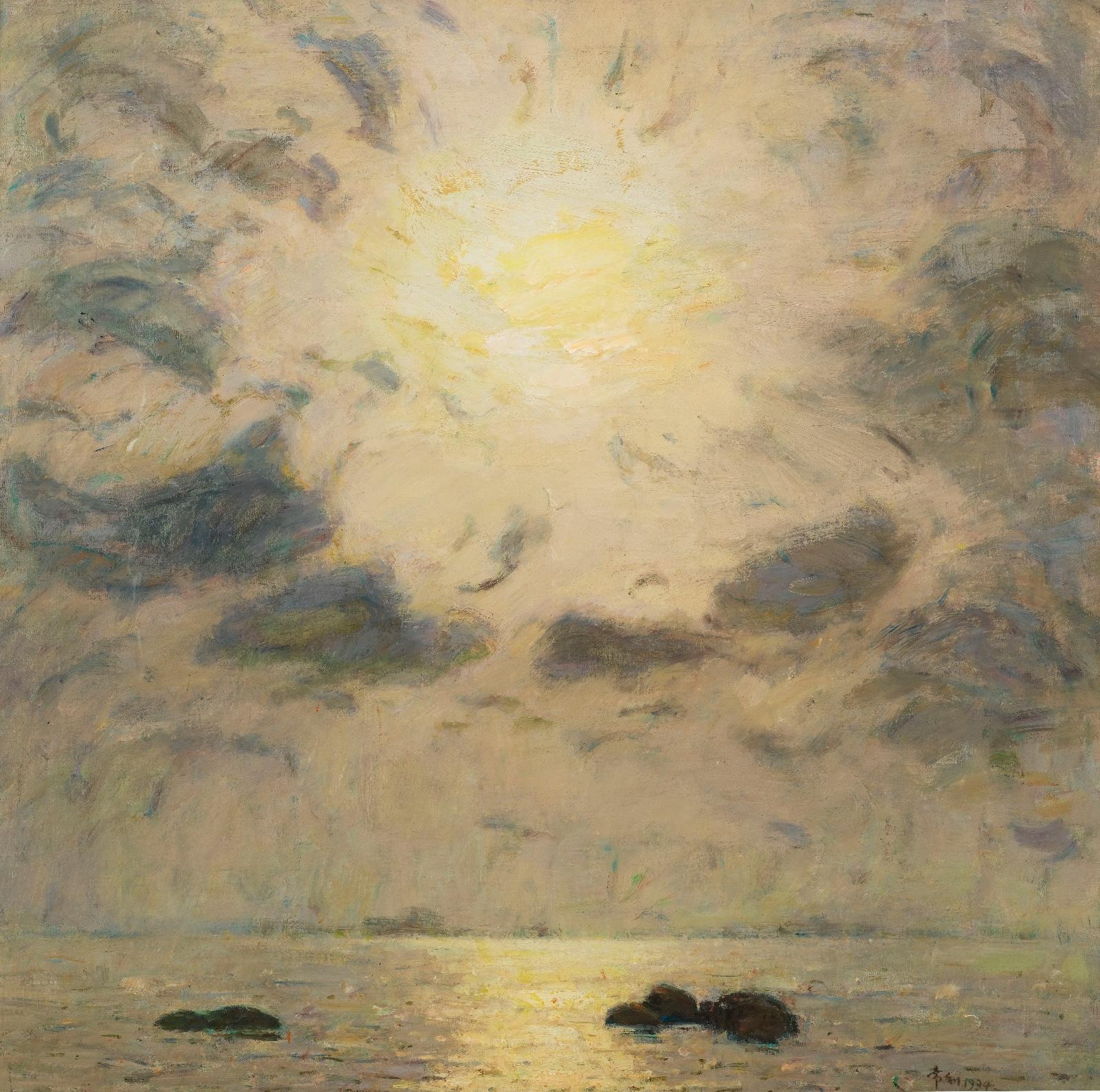 海之晨80cm×80cm1994年 马常利 亚麻布油画.jpg